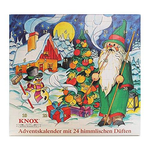 Knox Räucherkerzen Adventskalender mit 24 himmlischen Düften - 2016 - Made in Germany