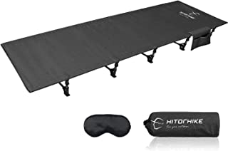 HITORHIKE Camping Cot Compact Folding Cot Bed for Outdoor Backpacking Camping Cot Bed