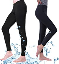 Fortuning's JDS® Swim Leggings, Men Women's UV Sun Protective Leggings - Unisex Compression Leggings Running Pants Yoga Workout Capris, Diving Snorkeling Surf Tights