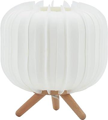 Lampe de chevet Klara, lampe décorative polypropilène, 40 W, blanc, ø 21 x H 20 cm