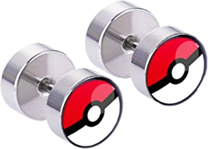 Pokémon Post Stud Silvertone Premium Quality Earrings Anime Game Gaming Comics Movies Cartoon