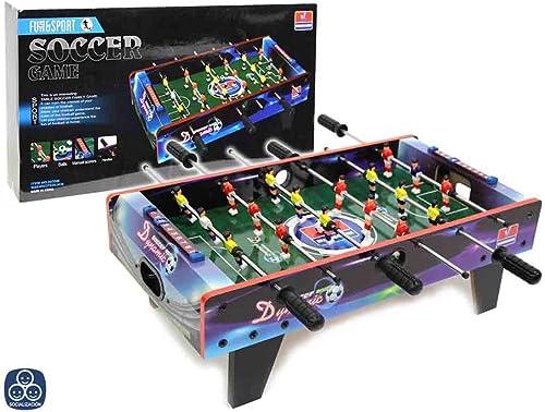 disfrutando de sus compras Futbolín Futbolín Futbolín Madera 18 Jugadores Mundial 67X37X23 cm  colores increíbles