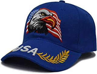 3D Embroidery Dad Hat Patriotic Eagle American Flag Adjustable Baseball Cap Classic Strapback Cap