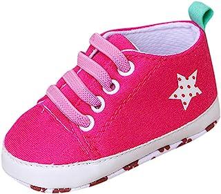 Fossen Kids, Fossen Recién Nacido Bebe Zapatos de Deporte, Zapatillas con Bordado Fútbol Suela Blanda Antideslizante Primeros pasos Para Bebé Niñas Niño 3-12 meses