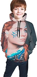 Teen Full Hooded Sweatshirt Unisex Children Young Women Warriors Redhead Girl Face