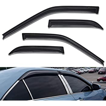 2007-2014 Silverado /& Sierra 2500HD//3500HD Extended Cab Lightronic WV94040 Tape-on Window Visors Rain Guards Smoke Tint 4PCS Set Fit for 2007-2013 Silverado /& Sierra 1500