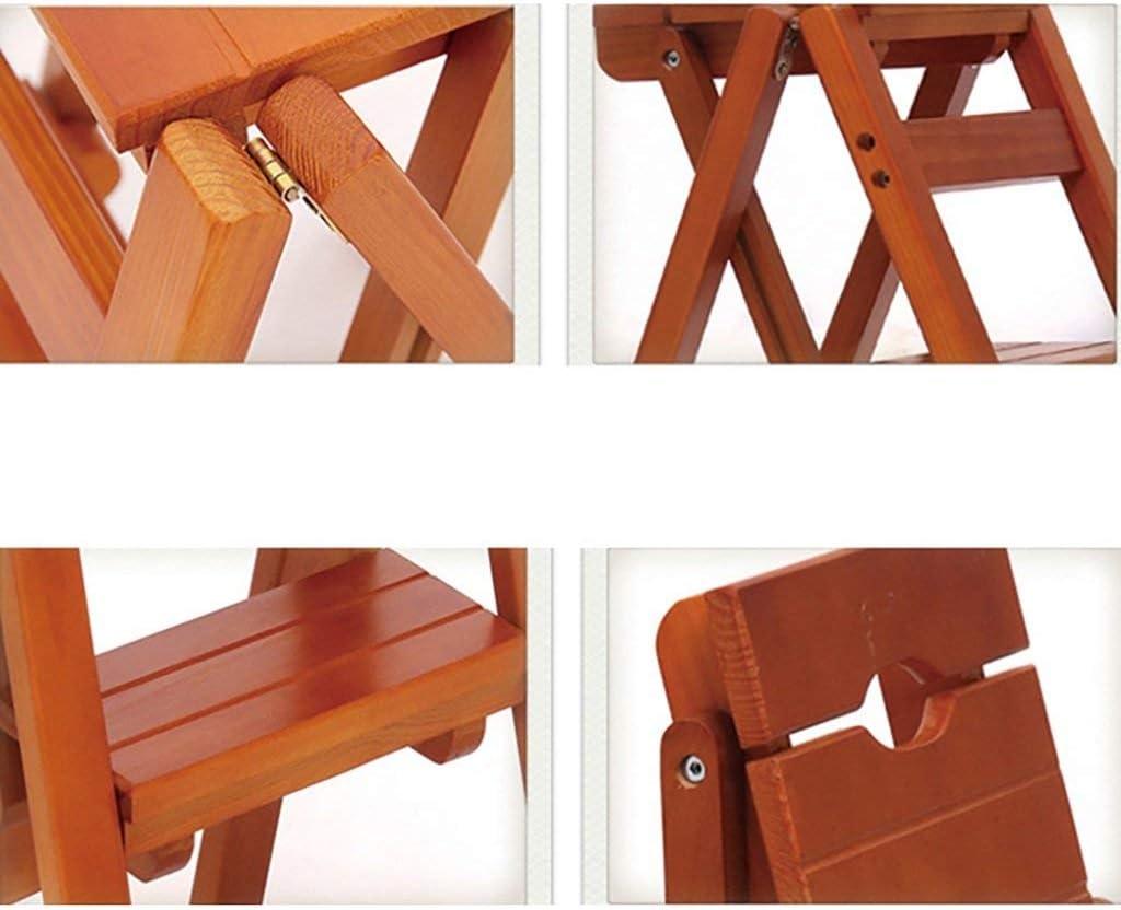 HY-WWK Escabeau Escabeau Tabouret En Bois Massif Pliant Chaise D'Escalier Échelle Domestique Deux Étapes Multifonction Intérieur Monter La Petite Échelle Châssis Stable,B B
