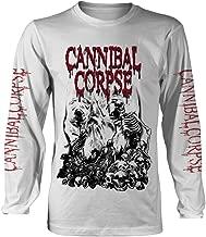 Cannibal Corpse 'Pile of Skulls 2018' (Blanco) Camisa de Manga Larga