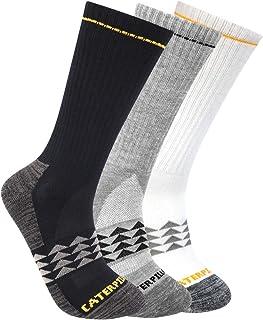 Men's 3-Pack Half Cushioned Crew Socks, Multi, Large