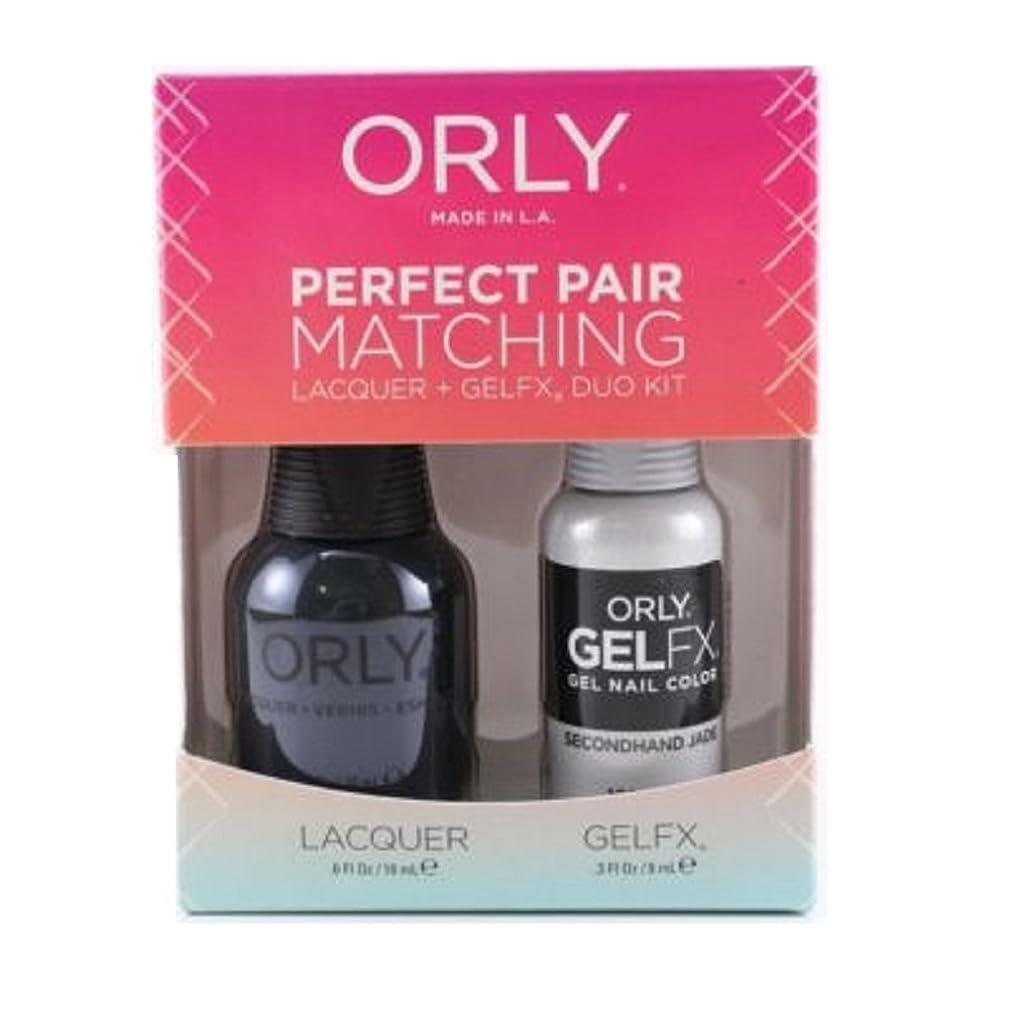囚人天国賛辞Orly Lacquer + Gel FX - Perfect Pair Matching DUO Kit - Secondhand Jade
