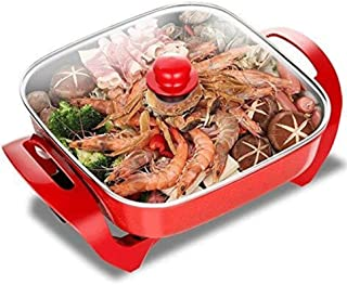 Feceyq Modern Craft Electric Hot Pot, Plug-and-Play Electric Shabu-Shaker, Aluminum Alloy, Strong and Durable, Can Be Used for Frying, Cooking, Braising