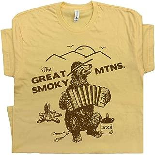 Great Smoky Mountains T Shirt Smokey Tee The Bear Applachian Trail Blue Ridge Hiking Men Women Kids