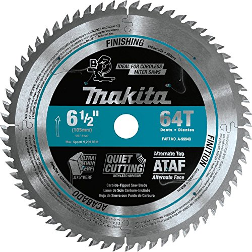 """Makita A-99948 6-1/2"""" 64T Carbide-Tipped UltraThin Kerf Saw Blade"""