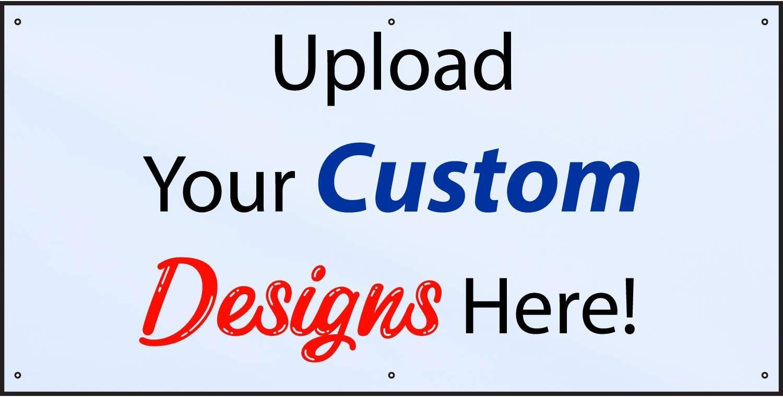 Customize Now with Online Designer-Indoor//Outdoor Vinyl Banner 4X3 Foot-White|Includes Zip Ties|Easy Hang-Made in USA HALF PRICE BANNERS