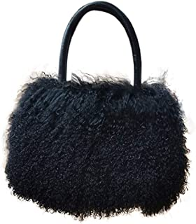 Women's Luxury Real fur Mongolian Lamb Fur Ladies Winter Shoulder Tote Bags Girls