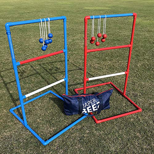 JaperBees Ladder Ball Toss for Outdoor Lawn Game with Heavy Duty Structure and Fasion Carrying Bag...