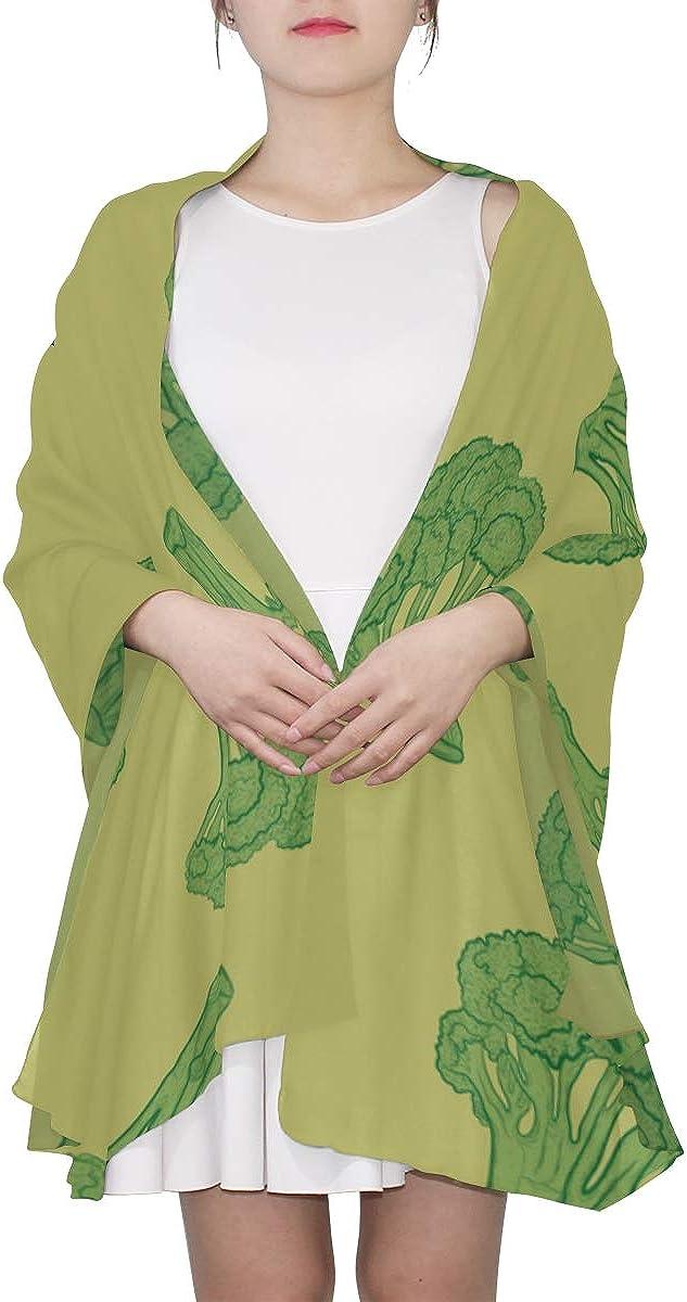 Wrap Women Shawl Little Green Broccoli Pretty Health Fashion Scarfs For Women Lightweight Wrist Scarfs For Women Lightweight Print Scarves Lightweight Large Scarf Lightweight Scarf For Men