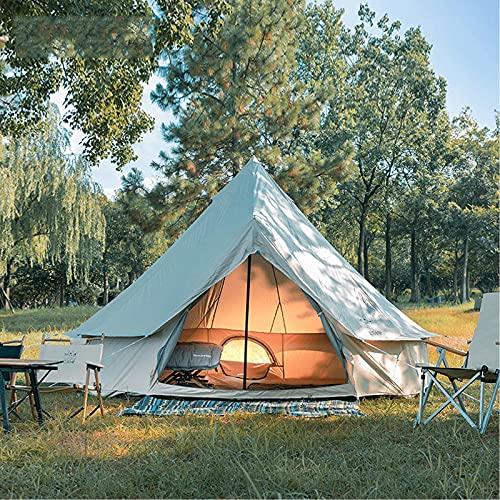 Tienda de campana 4M, impermeable de doble capa, tienda tipi india para acampar,...