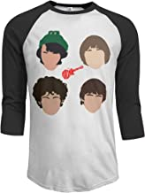 JeremiahR The Monkees Men's 3/4 Sleeve Raglan Baseball T Shirts Black