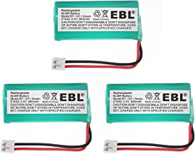 EBL 3 Pack 2.4V 900mah Rechargeable Handset Cordless Phone Batteries for Uniden BT-1011 BT-1022 BT-1018 BT-18433 BT-184342 and More