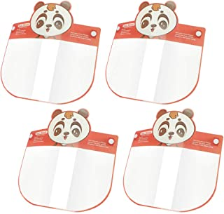 WIWN Kids Polyester Cartoon Animal Anti-Fog Face Covering, Protective Lens, Lightweight Transparent Safety Shields with El...