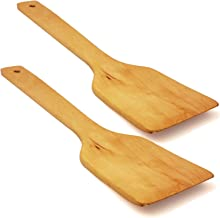 Wooden Spatula for Mixing and Cooking - Wood Kitchen Spatulas Set Great for Turner, Mixing, Corner Spoon and Scraper High ...