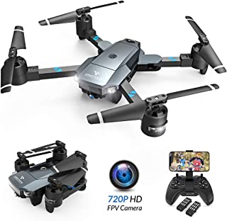 SNAPTAIN A15 Foldable FPV WiFi Drone w/Voice Control/120°Wide-Angle 720P HD..