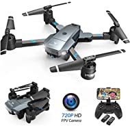 SNAPTAIN A15 Foldable FPV WiFi Drone w/Voice Control/120°Wide-Angle 720P HD Camera/Trajectory...