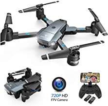 SNAPTAIN A15H Foldable FPV WiFi Drone w/Voice Control/120°Wide-Angle 720P HD Camera/Trajectory Flight/Altitude Hold/G-Sens...