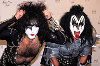 Posterazzi Poster Print Collection Paul Stanley and Gene Simmons of Kiss at The American Music Awards La Ca 1902 by Robert Hepler Celebrity (10 x 8)
