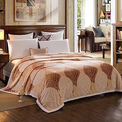 Wddwarmhome Couvertures chaudes chaudes et confortables de couverture de couverture de lit de chambre à coucher de couverture de lit de chambre chaude de polyester de Brown Couvertures ( taille : 120*200 cm )