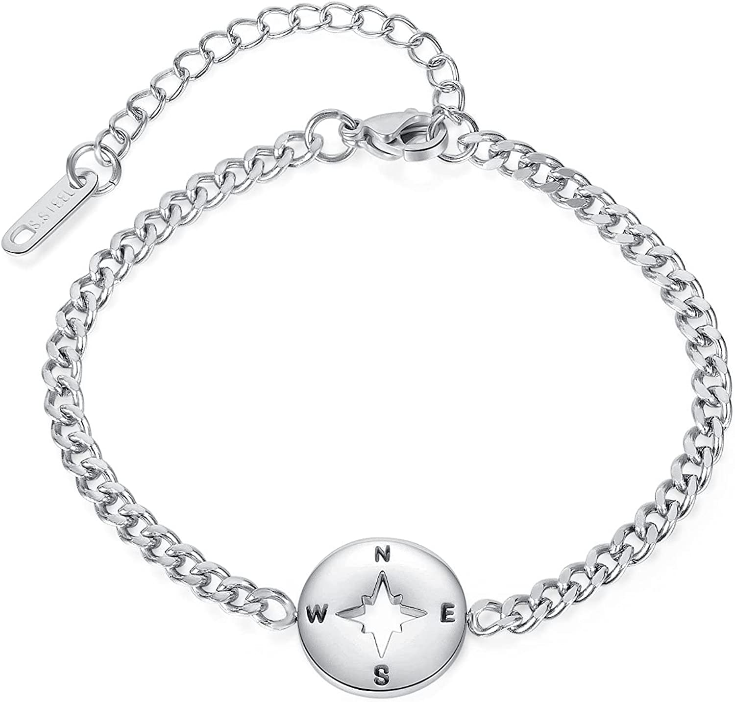 Round Bracelet Stainless Steel Creative Sale Shape Hand Max 72% OFF Compass Jewel