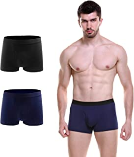 Tlanpu Men's Underwear Cotton Boxer Briefs Multipack Men's Stetch Cotton Boxer Brief