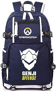 Overwatch Genji Sac /à Dos Sac /à bandouli/ère Cartable /École secondaire Pupils Campus Masculin