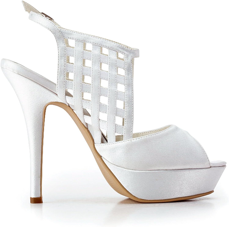Zioso TMZ381 Women's Ankle Strap Zip Satin Bridal Wedding Evening Formal Party Sandals