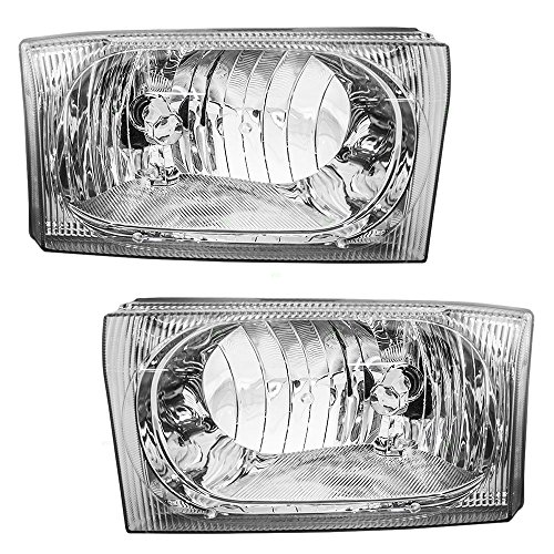 Composite Headlights Headlamps Driver and Passenger Replacements for Ford Super Duty Pickup Truck SUV 2C3Z 13008 AB 2C3Z 13008 AA