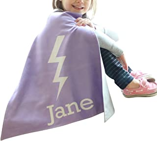 Personalized Kids Cape Costumes (Bolt), Girls and Boys Superhero Costume.