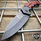 Snake Eye Tactical Everyday Carry Ultra Smooth One Hand Opening Folding Pocket Knife - Ideal for Recreational Work Hiking Camping (MX)