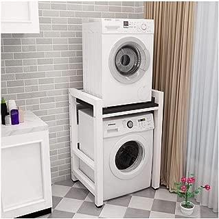 Qhw Shelf Storage Shelf Double-Layer Washing Machine Rack Dryer Dishwasher 2 Stacking Shelves Bathroom Space Saver Organisation (Color : D)