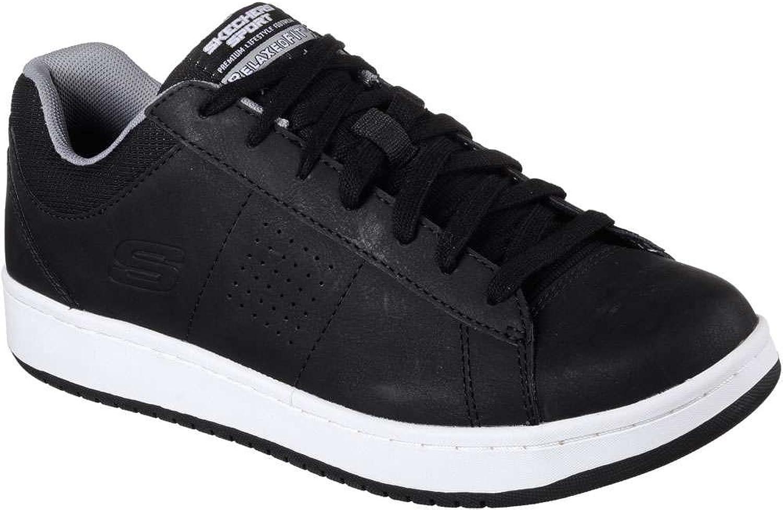Skechers M än's Tedder Turret Mode skor skor skor svart  vit 12 D (M) USA  kreditgaranti