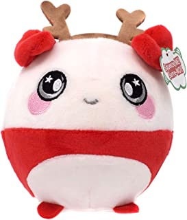 Squeezamals 3.5 Inch Holiday Squishy Plush Toy Figure Choose Yours Stocking Stuffer (3.5 Inch Tess Panda)