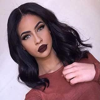 Brazilian Virgin Human Hair Lace Front Wigs Glueless Short Bob Human Hair Wigs Natural Wavy Hair For Black Women 12inch Short Wavy Lace Wigs