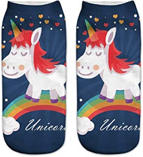 Calcetines tobilleros deportivos, de la marca Jysport, con estampado de unicornio