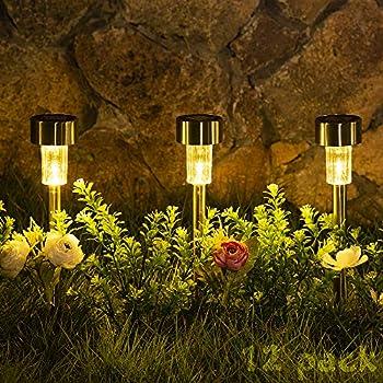 12-Pack Sowsun Outdoor Solar Pathway Lights