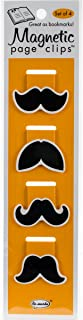 Mustache Magnificent Illustrated Magnetic Page Clips Set of 4 by Re-marks