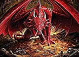 YsKYCp Puzzle 1000 Piezas,Dragon S Lair For Adult & Kids DIY Classic Painting Modern Home Decor Festival Gift Intellectual Game Wall Art