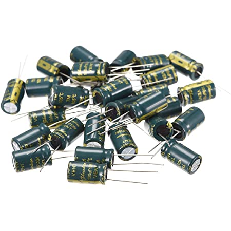 10 chemical capacitors electrolytic 100µf 100uf 25v radial 105 ° c wh tht