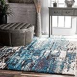 nuLOOM Haydee Abstract Area Rug, 5' x 8', Blue