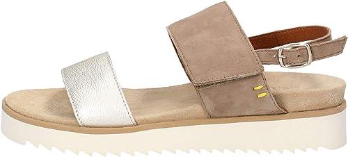 BENVADO Sandales Lilly 36002017 Chaussures pour Femmes en Daim Scintillant