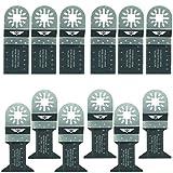 12 x TopsTools UNK12BMX Lame Bi-Metal per Bosch, Fein Multimaster, pastello, Makita, Milwaukee, Einhell, Ergotools, Hitachi, Parkside, Ryobi, Worx, Workzone Utensile multiuso con accessori